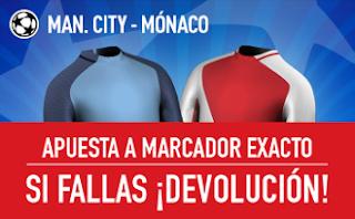 sportium promocion City vs Mónaco champions 21 febrero
