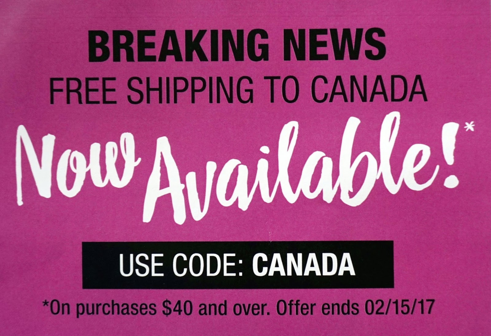 wet n wild canada coupon code free shipping