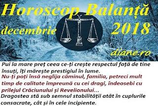 Horoscop Balanță decembrie 2018