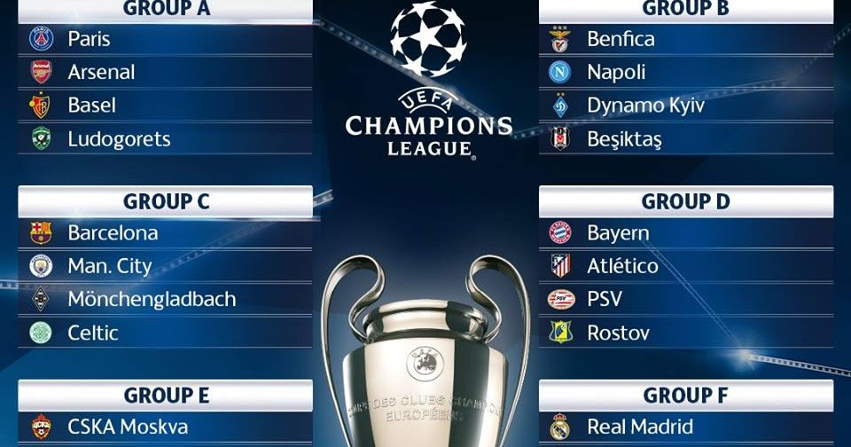 UEFA CHAMPIONS LEAGUE 2016/17 DRAWS AND SCHEDULE - ATSI SPORTS