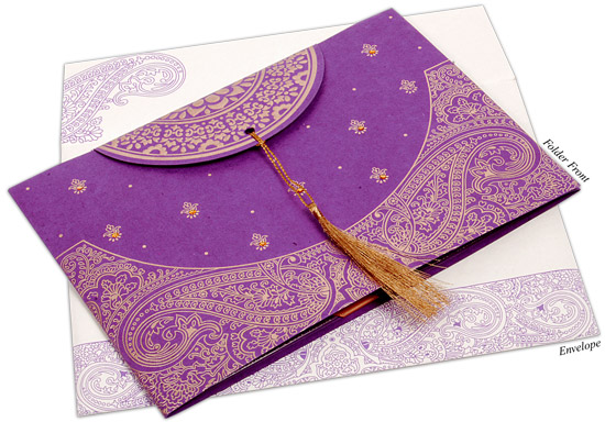 Purple Indian Wedding Invitations: A Guide To Types Of Indian Wedding Invitation Cards