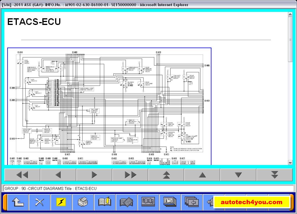 mitsubishi asx  mut3 service manual, repair manual, maintenance, wiring  diagrams, body repair manual
