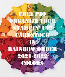 Organize Your Stampin' Up! Cardstock in Rainbow Order