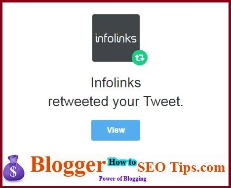 Retweet, Infolinks, Twitter