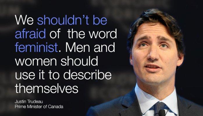 Frase feminista de Justin Trudeau
