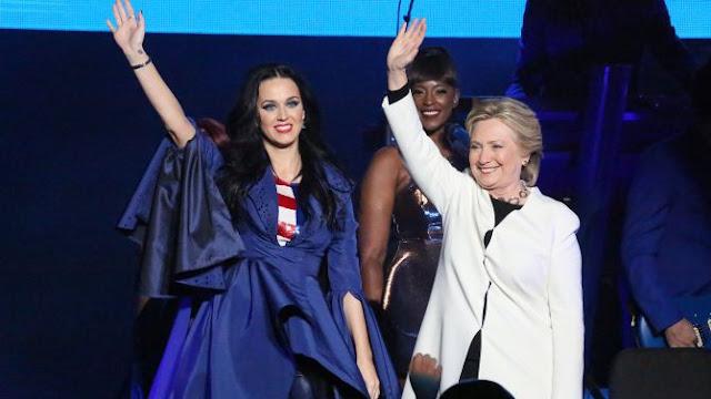 Katy Perry se presenta en concierto a favor de Hillary Clinton