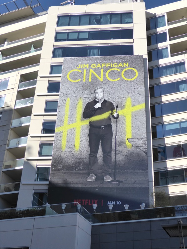 Jim Gaffigan Cinco standup special billboard