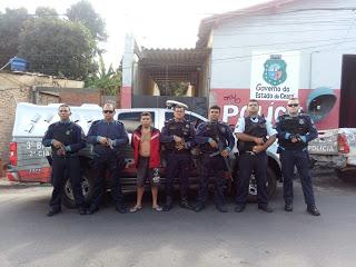 ACUSADO DE HOMICÍDIO EM PACUJÁ É PRESO DURANTE OPERAÇÃO POLICIAL EM SÃO BENEDITO