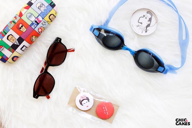 gafas especiales de sol y de bucear