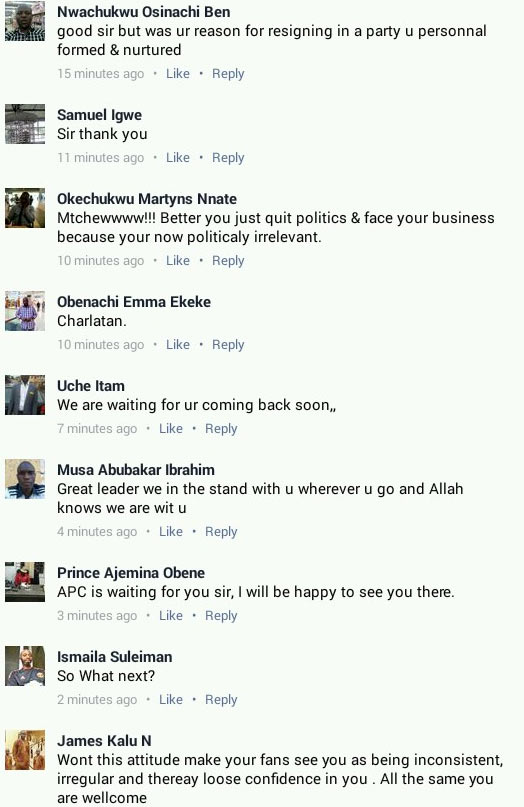 Orji Uzor Kalu resigns from political party he formed, PPA (see people's reaction)