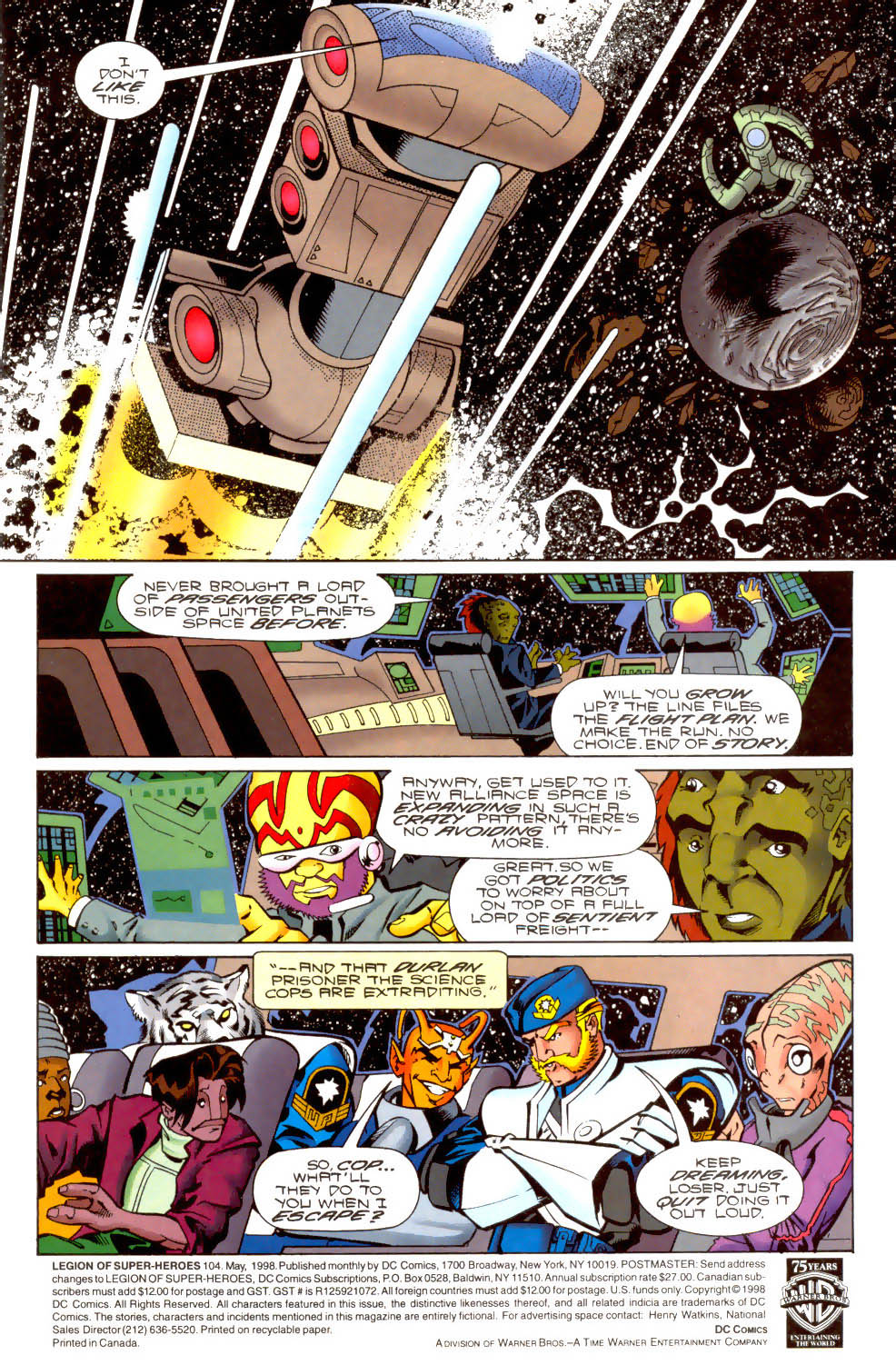 Legion of Super-Heroes (1989) 104 Page 1