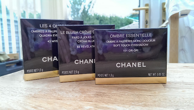 3 Chanel boxed products (makeup) purchased from their Autumn 2013 collection