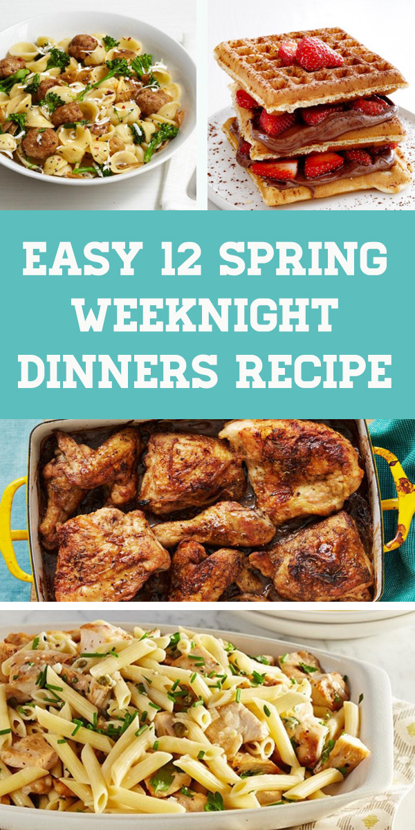 Easy 12 Spring Weeknight Dinners Recipe - weeknight dinner spring recipes. Fast dinner recipes, Chicken dinner recipes, Keto dinner recipes, Casserole recipes for dinner, Spring dinner recipes, Quick and easy dinner recipes. #weeknight #dinner #weeknightdinner #easydinner #dinnerrecipe #spring #meals #springmeals #casserole #crockpot