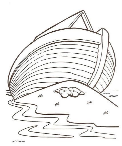 Para Noe Arca La De Paginas Colorear De Para Ninos