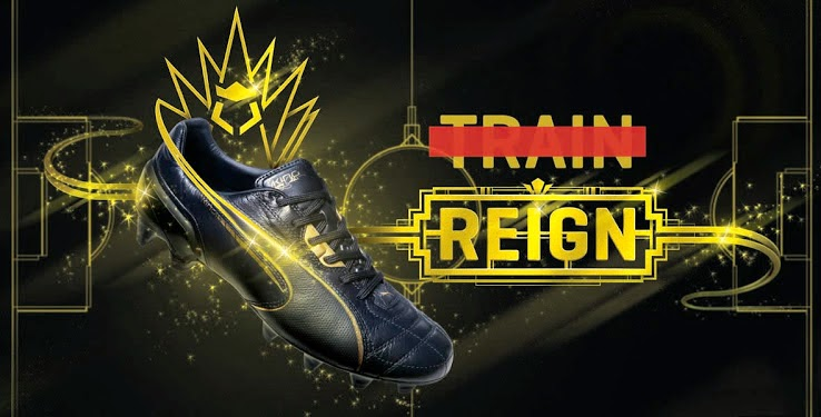 ce54c9783b48 This week Puma has released their most exclusive boot to date, a limited  edition Puma King Luxury 24K Gold boot. The boot has 24k gold embedded in  the heel ...