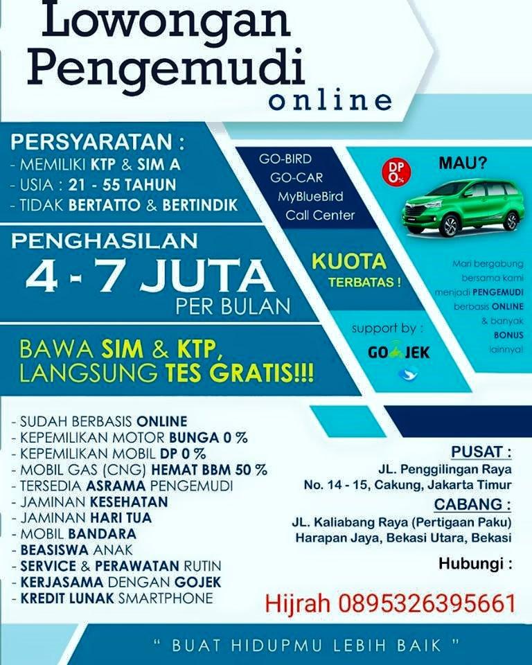 Lowongan Kerja Driver Online Jakarta Timur Pencari Kerja