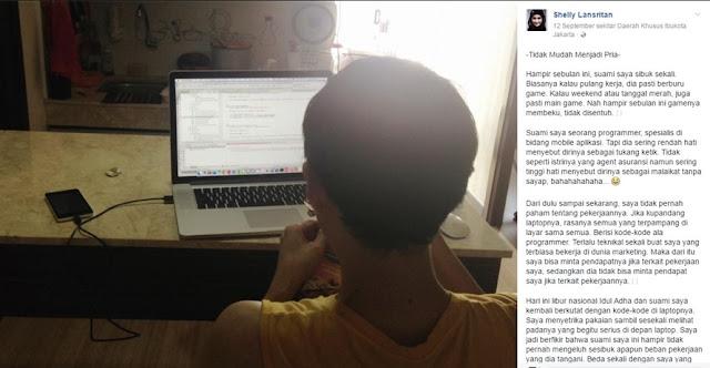 Curhatan Isi Hati Istri dari Seorang Programmer Ini Viral di Media SosialCurhatan Isi Hati Istri dari Seorang Programmer Ini Viral di Media Sosial