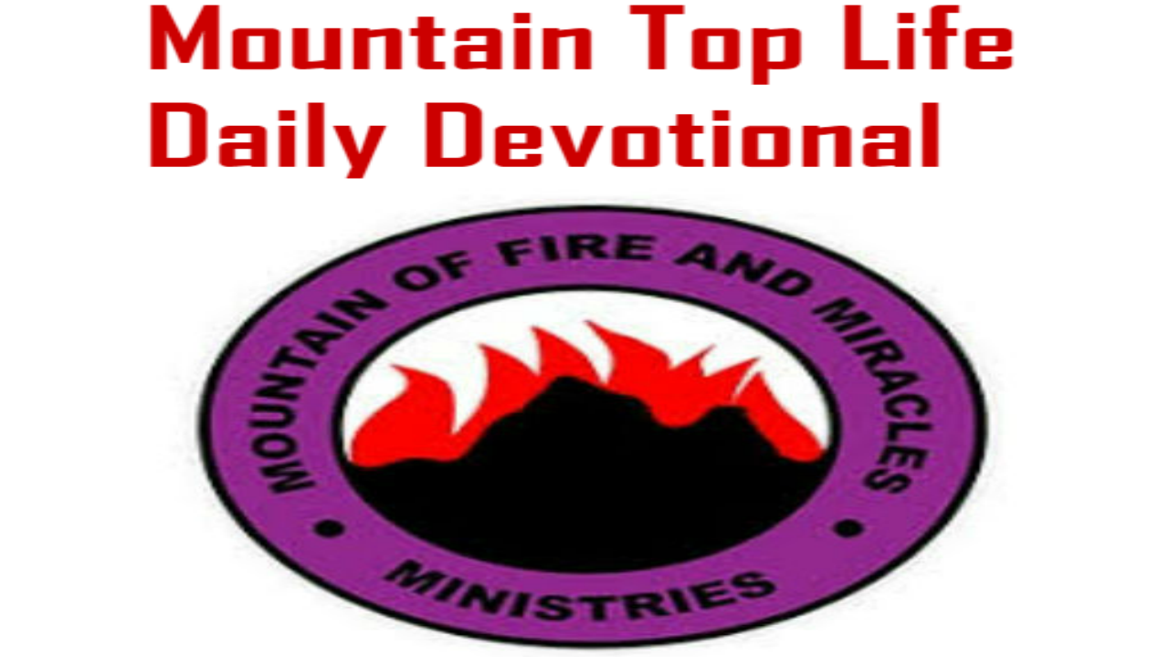 MFM Mountain Top Life Daily Devotional 31 December 2018 By Dr  D K