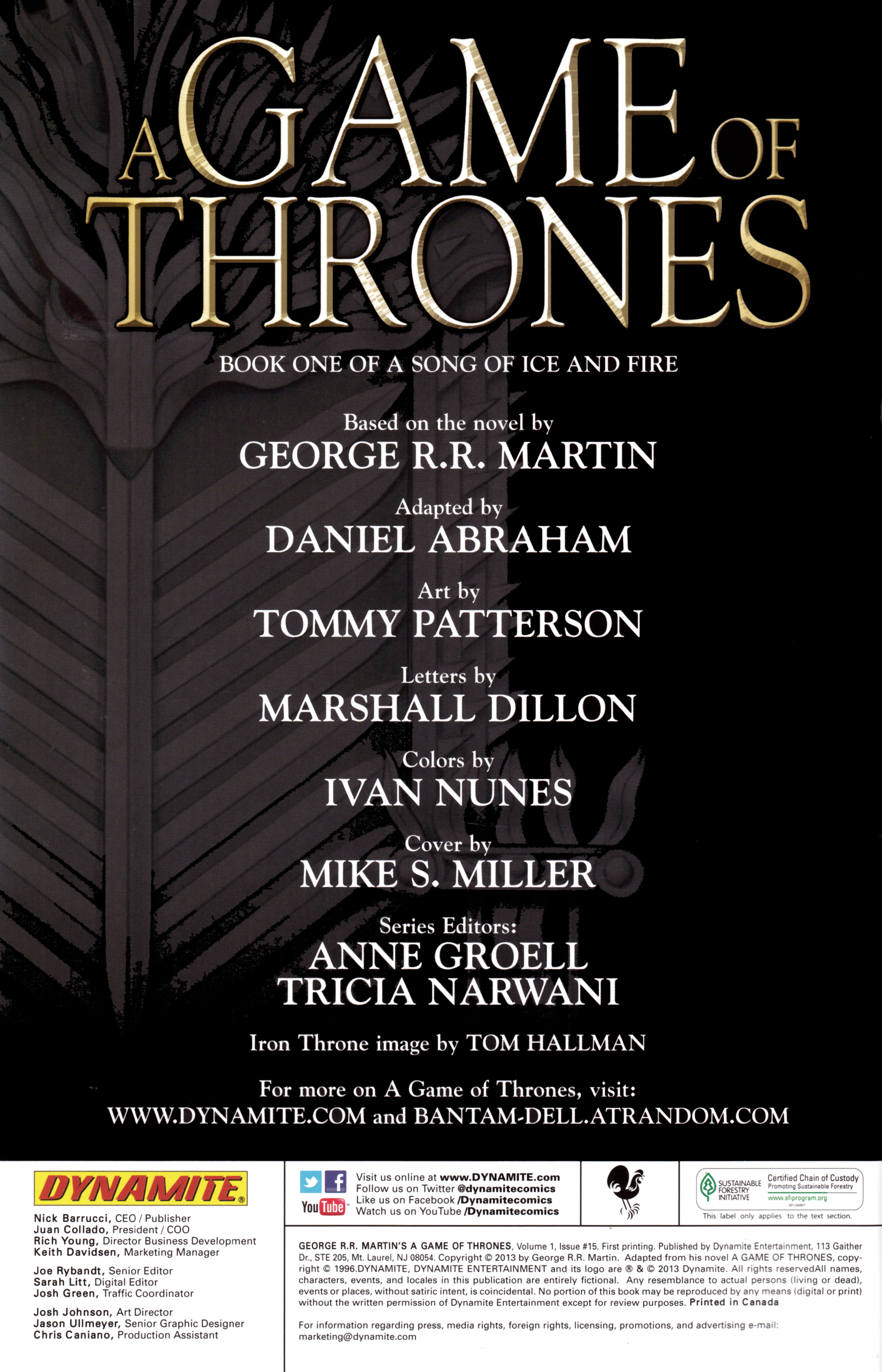 Read online A Game Of Thrones comic -  Issue #15 - 2