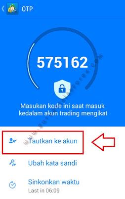 Tautkan OTP pada akun forex Trading