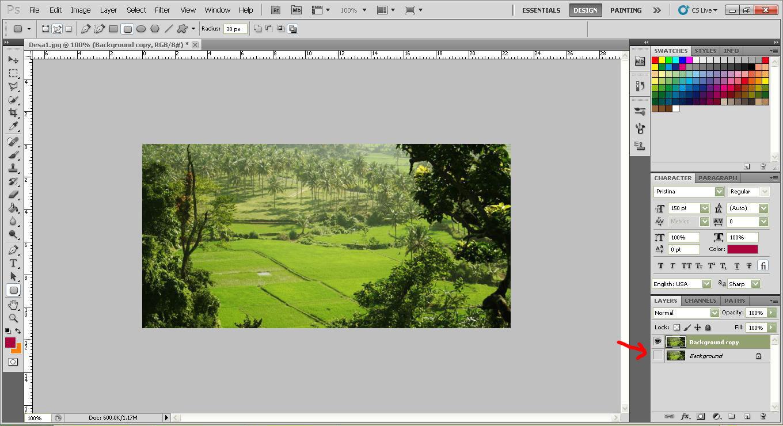cara membuat sudut gambar menjadi bulat