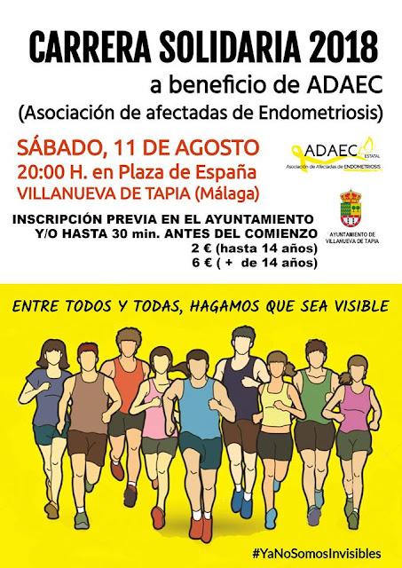 Carrera Solidaria Villanueva de Tapia 2018