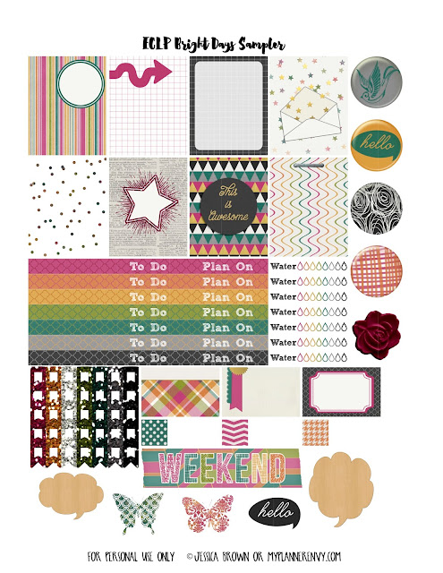 Free Printable Various Colors Sampler for the Vertical Erin Condren Life Planner on myplannerenvy.com