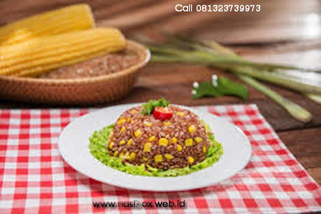 Resep nasi merah jagung gurih nasi box patenggang ciwidey