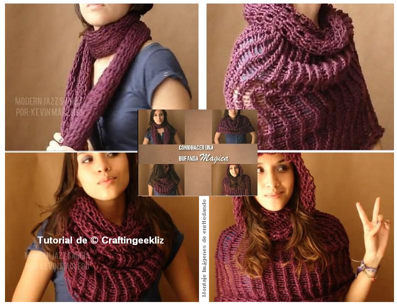 bufanda, tubo, multiusos, accesorios, labores, tejer, crochet, costura