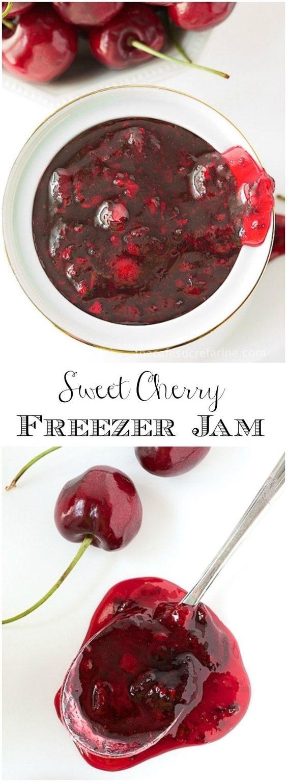 Sweet Cherry Freezer Jam