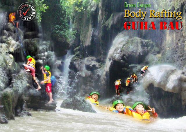 Info harga paket Body Rafting Guha Bau di Green Canyon Pangandaran