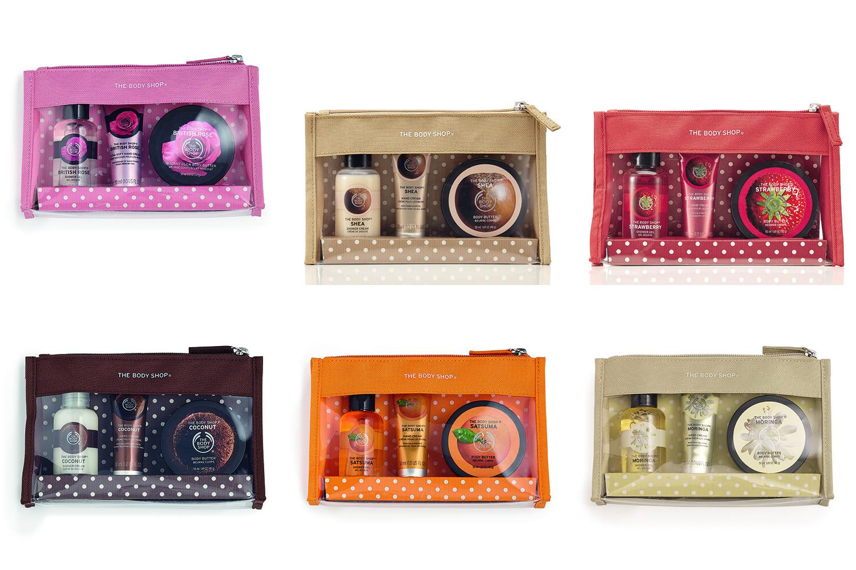 Body shop beauty bag gift set free ship qpanion
