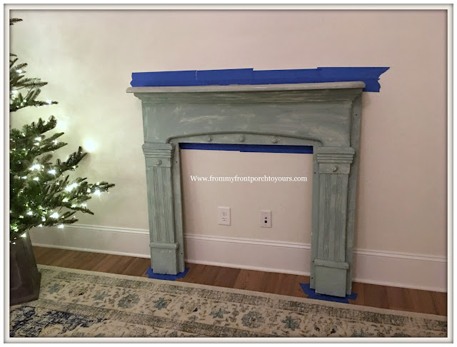 Vintage Fireplace Mantel Makeover-Magnolia Home Chalk Style Paint-DIY-Farmhouse Style-From My Front Porch To Yours