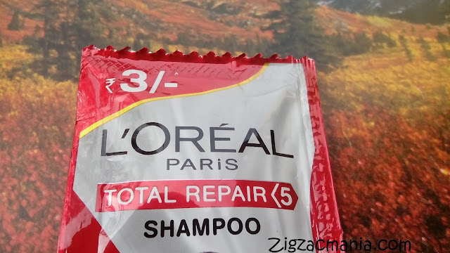 Sachet version of shampoo