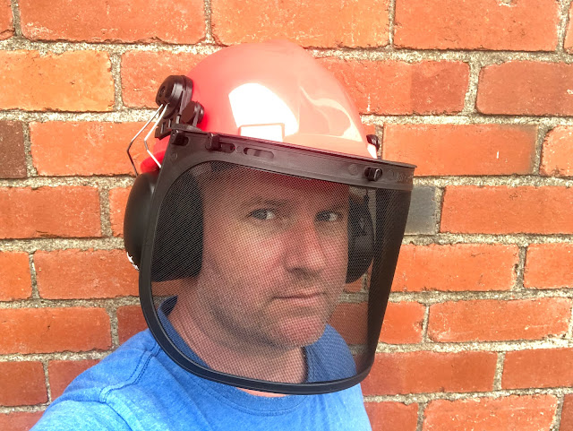 mesh visor safety helmet