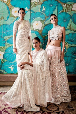 Take a look at these Chikankari sarees and gowns that will make you look amazing on your engagement day.