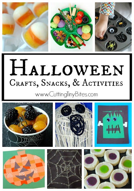 Halloween crafts, snacks, and activities for kids. Fun chocies for toddlers, preschoolers, kindergartners, and elementary children.