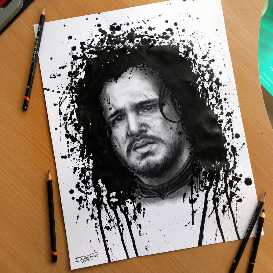 04-Jon-Snow-Game-of-Thrones-Dino-Tomic-AtomiccircuS-Drawing-Painting-Tips-and-Digital-Art-www-designstack-co