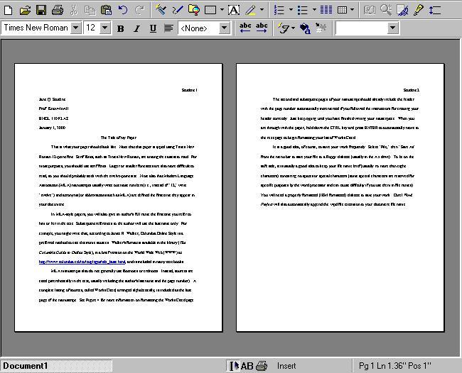 mla format 5 paragraph essay