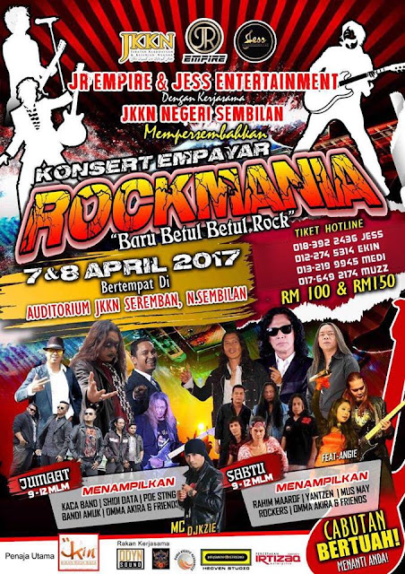 Event Konsert Empayar Rockmania | 7-8 April 2017