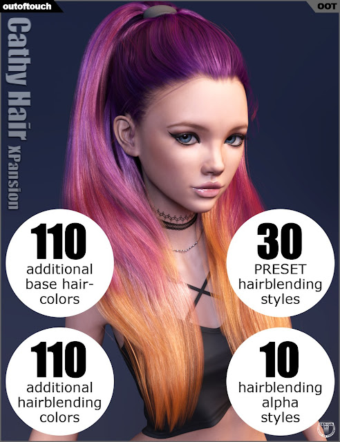 Cathy Hair and OOT Hairblending 2.0 Texture XPansion