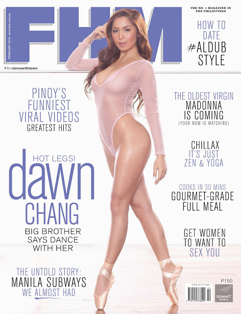 Dawn Chang FHM February 2016 Cover Girl