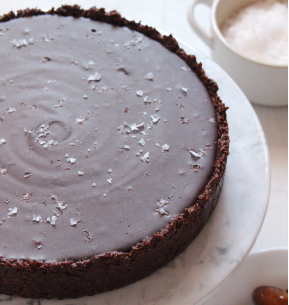 A No-Bake Salted Caramel Chocolate Tart