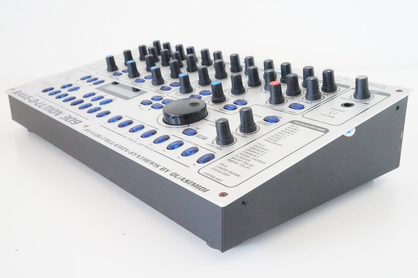 matrixsynth quasimidi rave o lution 309 synthesizer drum machine sequencer sn 44635. Black Bedroom Furniture Sets. Home Design Ideas