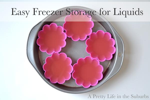 Freezing Leftover Liquids