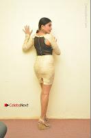 Actress Pooja Roshan Stills in Golden Short Dress at Box Movie Audio Launch  0113.JPG