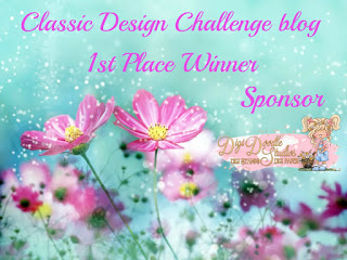 won March 2021 challenge at Classic Design challenge