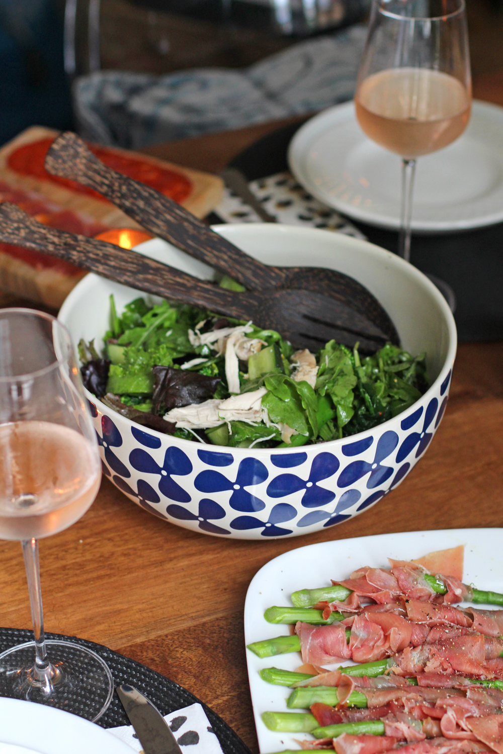 Jersey Pottery Helice Navy Salad Bowl - UK lifestyle blog