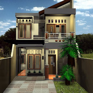 Desain rumah minimalis 2 lantai model 45 tapi elegan 2016