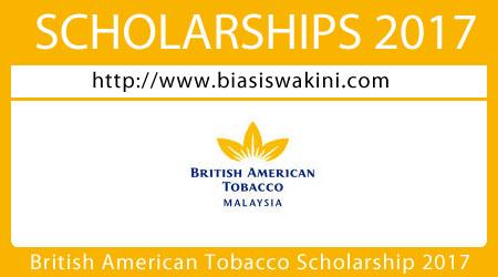 British American Tobacco Malaysia Scholarship 2017